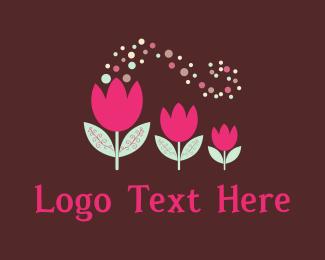 Ornament - Pink Tulips logo design