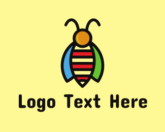 Bumblebee - Tropical Bee logo design