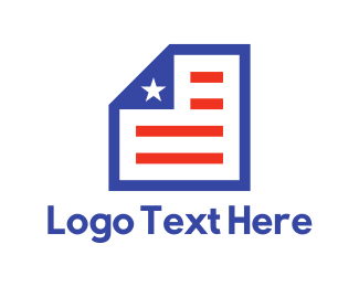 Paper Sheet - American Document logo design