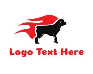 Motivational - Hot Rottweiler logo design