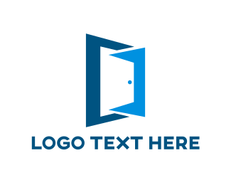 Entry - Blue Door Outline logo design