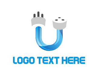 Plug - Unplugged logo design