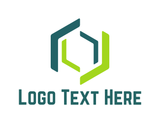 Hexagonal - Green Hexagons logo design