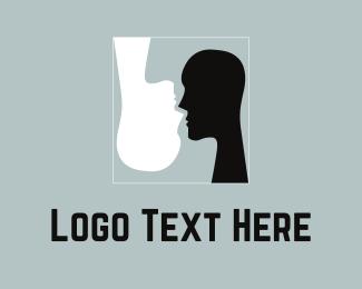 Mirror - Black & White Silhouettes logo design