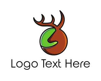 Hunt - Brown Deer Circle logo design