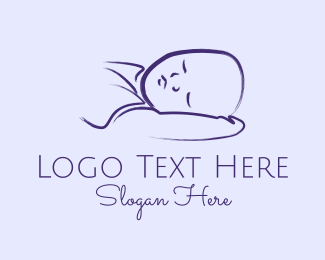 Child Care - Baby Boy Sleeping logo design