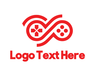 Xbox - Red Infinity Controller logo design
