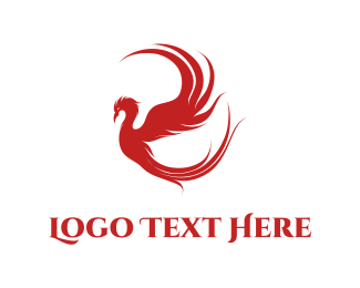 Greek God - Red Phoenix logo design