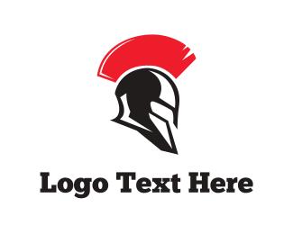 Helmet - Spartan Helmet logo design