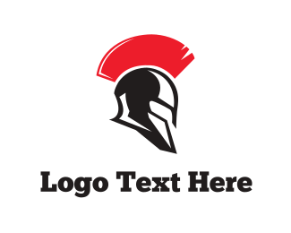 Fighter - Spartan Helmet logo design