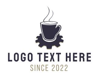 Cogwheel - Industrial Coffee logo design