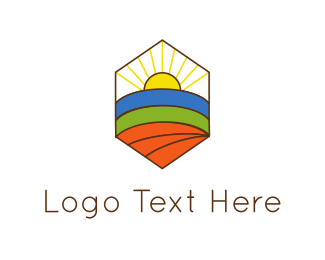 Sunshine - Hexagonal Landscape  logo design