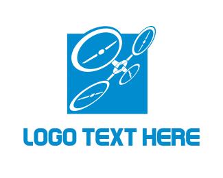 Photography - Blue Tech Square Drone logo design