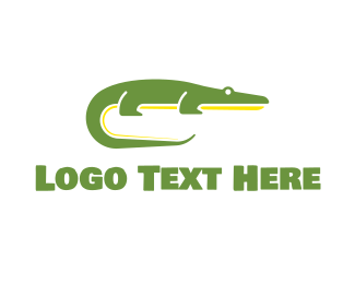 Darwin - Green Crocodile logo design