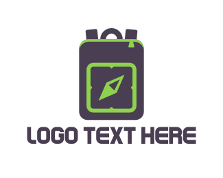 Tourist - Travel Backpack logo design