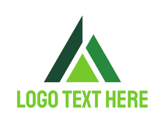 Pine - Abstract Green Triangle logo design