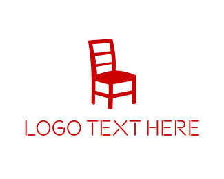 Lighting - Red Chair logo design