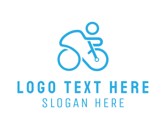 Cycling - Blue Cyclist logo design