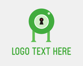 Security - Droid Lock Green logo design