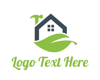 House - Eco House Repair  logo design