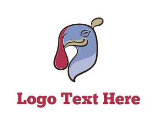 Chick - Happy Turkey Cartoon logo design