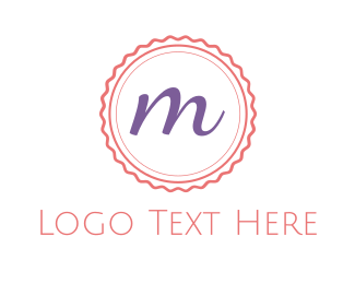 Candy - Cute M Emblem logo design