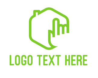 Broker - House Click logo design