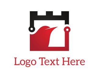 Fortress - Safe Bird logo design