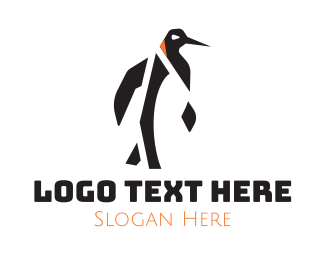 Antarctic - Abstract Penguin logo design