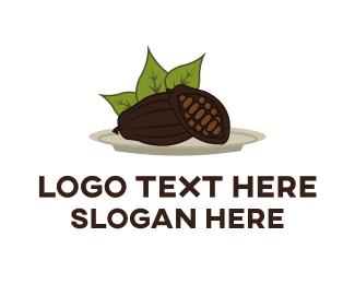 Raw - Cocoa Plant logo design