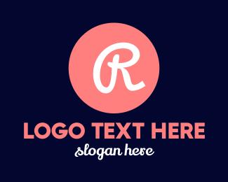 Dot - Pink R Circle logo design