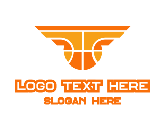 Varsity - Orange Yellow Basketball logo design