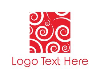 Twist - Red Spirals logo design