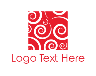 Swirl - Red Spirals logo design