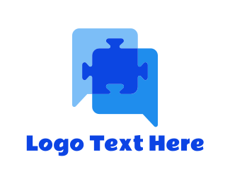 Translation - Puzzle Talk logo design