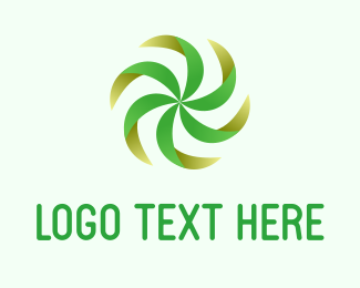 Swirl - Green Fan logo design