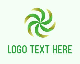 Fan - Green Fan logo design