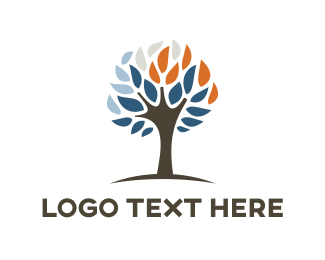 Trunk - Abstract Dried Tree logo design