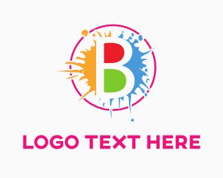 Spot - Colorful B Splash logo design