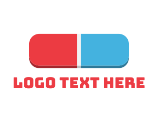 Office Supplies - 3D Eraser logo design