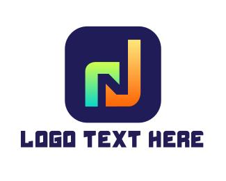 App - Music App N logo design
