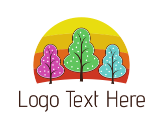 Botany - Colorful Trees logo design