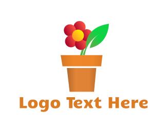 Vase - Ornamental Flower logo design