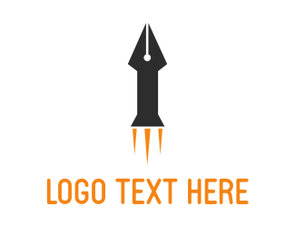 Speech - Rocket Pen logo design