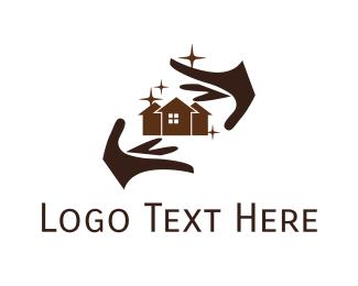 Housekeeper - Magical House logo design
