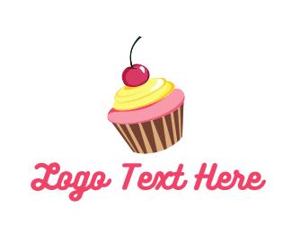 Muffin - Cupcake Cherry logo design
