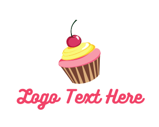 Candy - Cupcake Cherry logo design