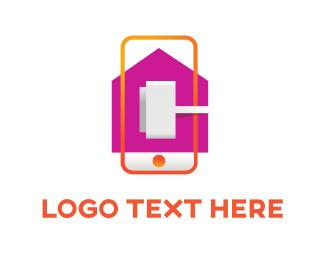 Charger - Mobile Plug logo design