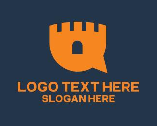 Locksmith - Castle Chat logo design