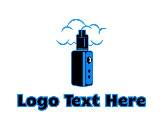 Nicotine - Blue Variable Vape logo design